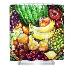 Fruit Basket Shower Curtain by Shana Rowe Jackson