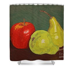 Fruit For Teacher Shower Curtain by Vicki Maheu