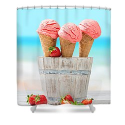 Fruit Ice Cream Shower Curtain by Amanda Elwell