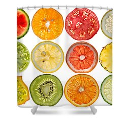Fruit Market Shower Curtain by Steve Gadomski