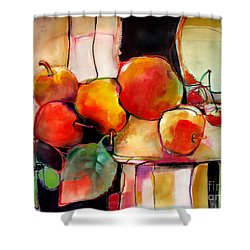 Fruit On A Dish Shower Curtain