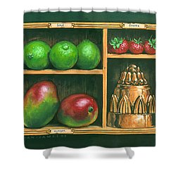 Fruit Shelf Shower Curtain by Brian James