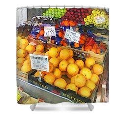 Fruit Stand Hoboken Nj Shower Curtain by Susan Savad