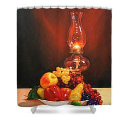 Fruit Under Lamp Light Shower Curtain