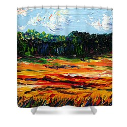 Shower Curtain featuring the painting Fruition by Meaghan Troup