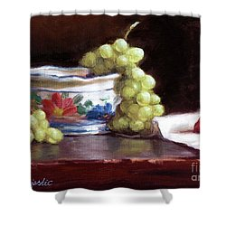 Fruits And Ceramic Bowl Shower Curtain