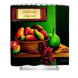 Fruits Still Life Shower Curtain