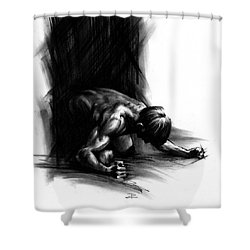 Frustration Shower Curtain by Paul Davenport