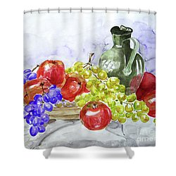 Fruit After Him Shower Curtain by Jasna Dragun