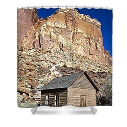 Frutia Schoolhouse Capitol Reef National Park Utah Shower Curtain by Jason O Watson