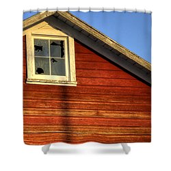 Ft Collins Barn Sunset 2 13508 Shower Curtain by Jerry Sodorff