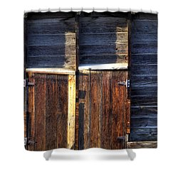 Ft Collins Barn Tin 13547 Shower Curtain by Jerry Sodorff