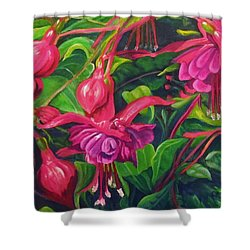 Fuchsia Fantastic Shower Curtain