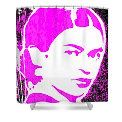 Fuchsia Frida Shower Curtain