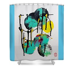 Fugu Ni Shower Curtain by Pg Reproductions