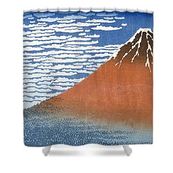 Fuji Mountains In Clear Weather Shower Curtain by Hokusai