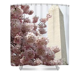 Full Bloom In Dc Shower Curtain by Jennifer Wheatley Wolf
