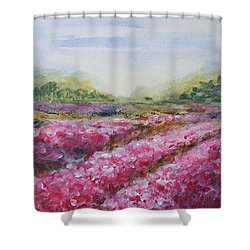 Shower Curtain featuring the painting Full Bloom by Jane  See