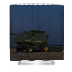Full Moon And Combine Shower Curtain by Rob Graham