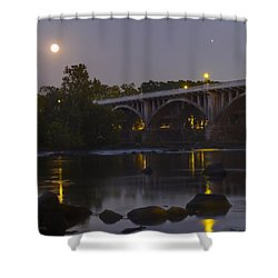 Full Moon And Jupiter-1 Shower Curtain