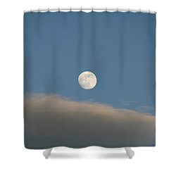 Shower Curtain featuring the photograph Full Moon by David S Reynolds