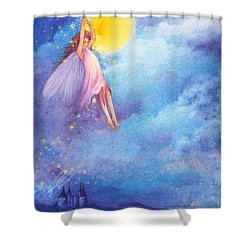 Full Moon Fairy Nocturne Shower Curtain