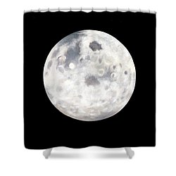 Full Moon In Black Night Shower Curtain