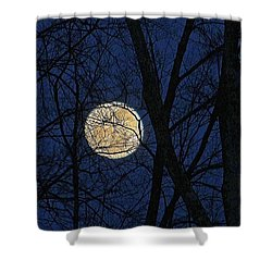 Full Moon March 15 2014 Shower Curtain
