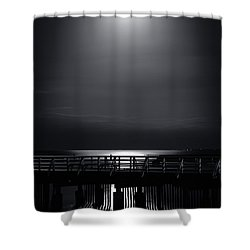 Full Moon Over Bramble Bay Shower Curtain