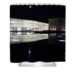 Full Moon Over Nelson Atkins Museum In Kansas City Shower Curtain