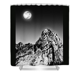 Full Moon Over The Suicide Rock Shower Curtain