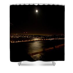 Full Moon Rising Shower Curtain by Bill Gallagher