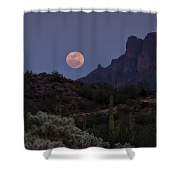 Full Moon Rising  Shower Curtain by Saija  Lehtonen