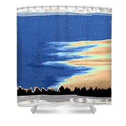 Full Moon Rising Shower Curtain by Will Borden