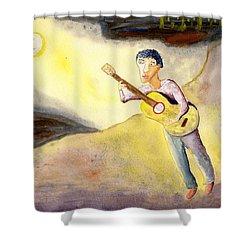 Full Moon Serenade  Shower Curtain