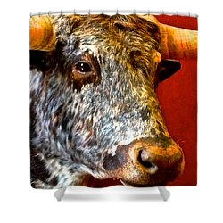 Full Of Bull Shower Curtain