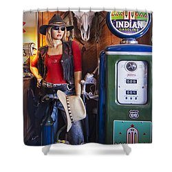 Full Service Route 66 Gas Station Shower Curtain