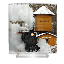 Full Steam Ahead Shower Curtain by Ken Smith