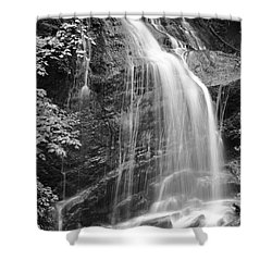 Fuller Falls Waterfall Black And White Shower Curtain
