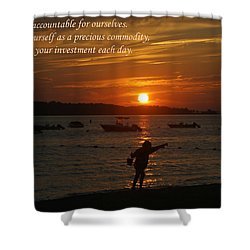 Fun At Sunset/ Inspirational Shower Curtain