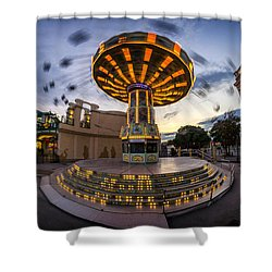 Fun Fair In The Night Shower Curtain
