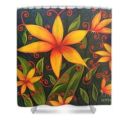 Fun Flowers Shower Curtain
