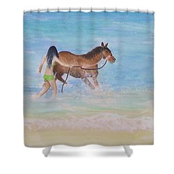 Fun On The Beach Shower Curtain