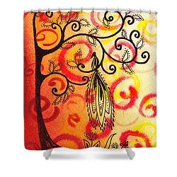 Fun Tree Of Life Impression II Shower Curtain by Irina Sztukowski