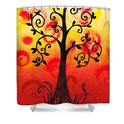 Fun Tree Of Life Impression IIi Shower Curtain by Irina Sztukowski