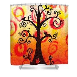 Fun Tree Of Life Impression V Shower Curtain by Irina Sztukowski