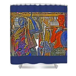 Funky Boutique Shower Curtain by Ann Horn