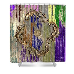 Funky British Shilling Shower Curtain by Joseph Baril