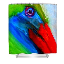 Funky Colorful Pelican Art Prints Shower Curtain