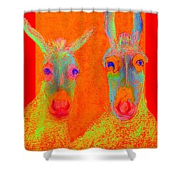 Funky Donkeys Art Prints Shower Curtain